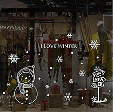 Agreey Frohe Weihnachten Wandaufkleber Abnehmbare