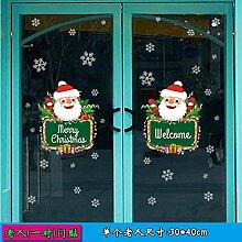 Agreey Weihnachten Wandaufkleber Dekorative