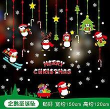 Agreey Weihnachtsglas Aufkleber Einkaufszentrum