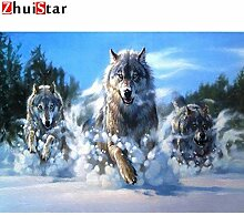 Agreey Wolf, Diamantstickerei, Voll, Tier,