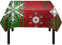 Agroupdream Weihnachtliche dekorative Tischdecke