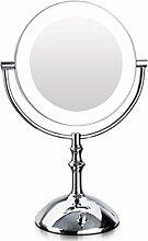 AGUHAIBO LED Kosmetikspiegel Desktop Zwei Farben