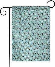 Ahaltao Weiche Gartenflagge Blumengesteck mit