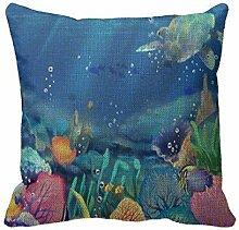 AHArtSaleStore O12L under The Sea Sofa Romatic Decoration Pillow Case Cushion Cover 18 inch