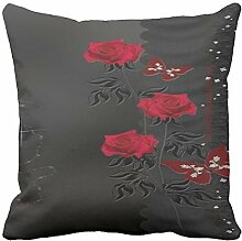 AHArtSaleStore O13L Red Decoration Pillow Case Cushion Cover 18 inch