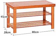 AHB Holzschuh Rack Sitzbank für Eingangshalle