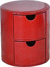 AHB Runder Aufbewahrungsbox für Fußhocker