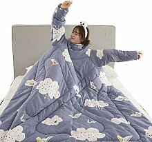AHDA Winter Lazy Quilt, Lazy Quilt with Sleeves,