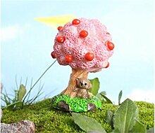 AHIMITSU Bonsai Mini Apfelbaum mit Bär Micro