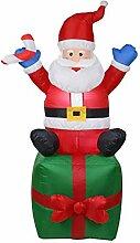 Ahomi Aufblasbarer Weihnachtsmann Weihnachtsmann