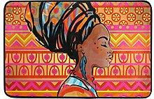 Ahomy Badteppich Afrika Frau Art Rutschfest Dusche