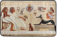 Ahomy Fußmatte, antike ägyptische Charaktere,