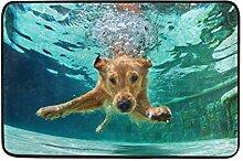 Ahomy Fußmatte Labrador Retriever Welpen,