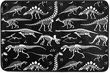 Ahomy Fußmatte mit Dinosaurier-Skelett, sehr