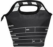 Ahomy Lunchbox Tasche aus schwarzem Film,