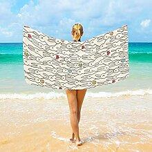 Ahomy Mikrofaser-Strandtücher Lustiges Hasen-Herz