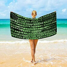 Ahomy Mikrofaser-Strandtücher Matrix Digitales