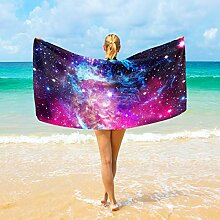 Ahomy Mikrofaser-Strandtücher Nebula Galaxy