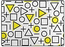 AHOMY Teppich, 150 x 200 cm, rutschfest, modern,