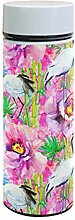 Ahomy Watercolor Crane Birds Bamboo Flower Double