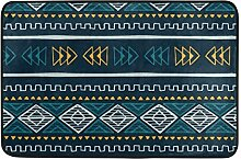 Ahomy Weive mexikanischer Muster, Vintage-Teppich,