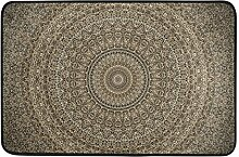 Ahomy Wihve Datura Mandala-Teppich, Fußmatte,