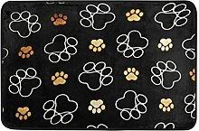 Ahomy Wihve Hunde-Fußabdrücke, Teppich,