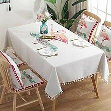 Ahuike Tisch Decke Wasserabweisend Quasten