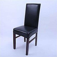ai-home PU Leder Stuhl Bezüge Stretch Autositzbezüge Fashion für Küche Esszimmer Hochzeit schwarz