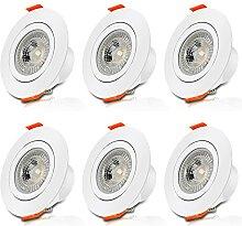 Aialun LED Einbaustrahler flach 230v 6 x 6w
