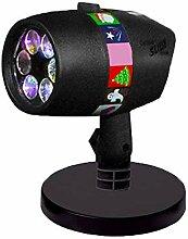 AIBAB LED Snowflake Projektionslampe, 12 Muster,