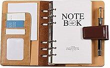 Aibecy A6 80 Loseblatt Notizbuch mit PU