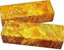 Aibote 1 Paar Burma Golden Camphor Holz Messer