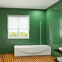 Aica Sanitär 110cm Badewannenaufsatz Duschwand