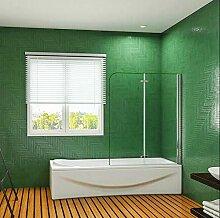 Aica Sanitär 120cm Badewannenaufsatz Duschwand