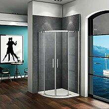 Aica Sanitär 90x90cm Duschkabine Viertelkreis 6mm