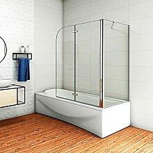 Aica Sanitär Badewannenaufsatz Eck Duschwand