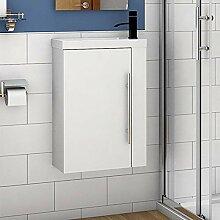 Aica Sanitär Badmöbel Set 45 cm Waschbecken mit