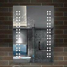 AicaSanitär Badspiegel 39×50 cm Wandspiegel