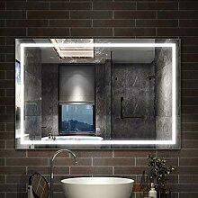 AicaSanitär Badspiegel mit Beleuchtung 110×80