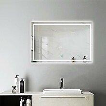 AicaSanitär Badspiegel mit led 110×70 cm Touch