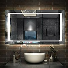 AicaSanitär Badspiegel mit LED Beleuchtung