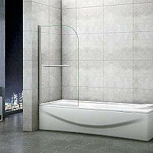 Aica Sanitär Duschwand für badewanne 80x140cm