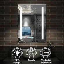 AicaSanitär LED Bad Spiegel 50×70cm Badspiegel