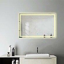 AicaSanitär LED Badspiegel 100×70 cm Warmweiß