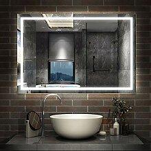 AicaSanitär LED Badspiegel 110×80cm Badspiegel