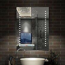 AicaSanitär LED Badspiegel 60×80cm Badspiegel