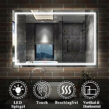 AicaSanitär LED Badspiegel 70×50cm Badspiegel