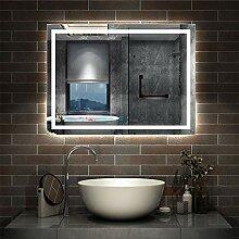 AicaSanitär LED Badspiegel 90×60cm Badspiegel
