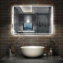 AicaSanitär LED Badspiegel 90×65cm Badspiegel